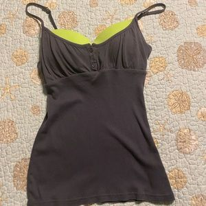 Grey and lime green tank top